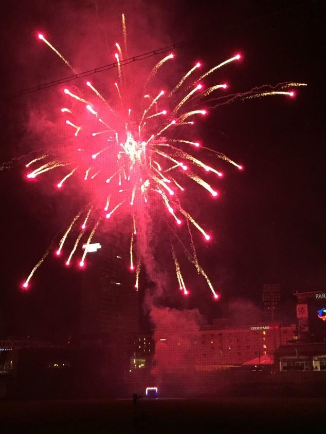 Fireworks at the Tincaps